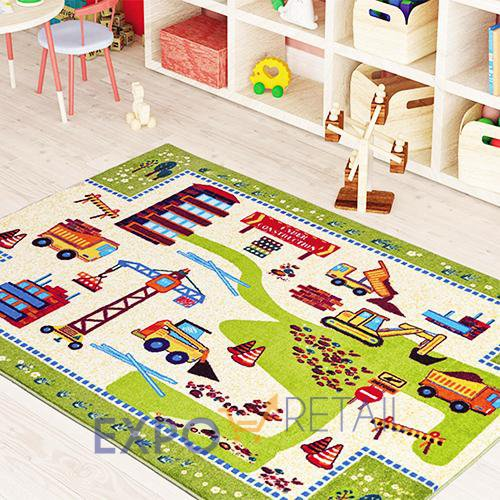 Коврик CONFETTI KIDS CONSTRUCTION ANTI-SLIP  133х190см