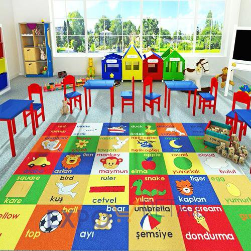 Коврик CONFETTI KIDS  RUGS STUDY-TIME  133х190см